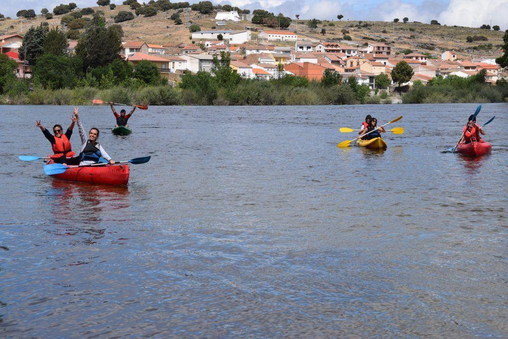 piraguas Rio Playa Puente del Congosto 1024x684 - Rio Playa, la Piscina natural de Salamanca